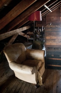The attic still had quite a bit of furniture.