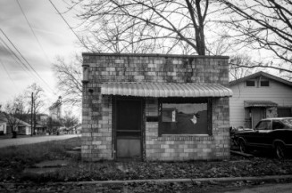 Old barber shop in DeWitt, Arkansas