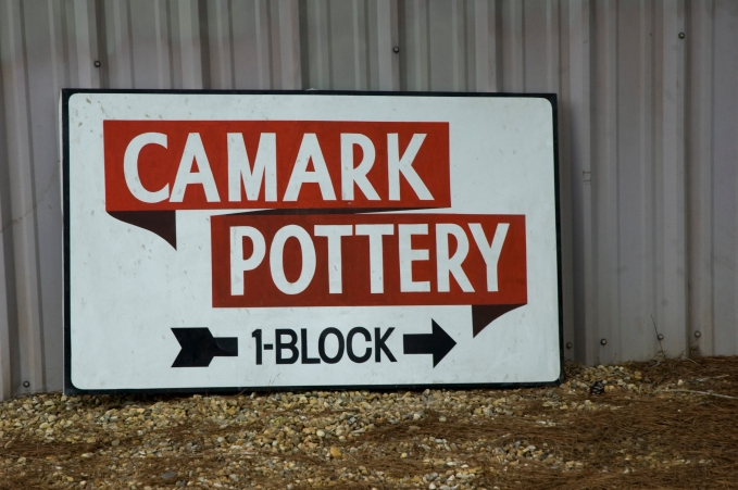Arkansas Democrat Gazette photo by Cary Jenkins One of the items recently auctioned, an old Camark Pottery signCamark Pottery Factory, Camden Arkansas