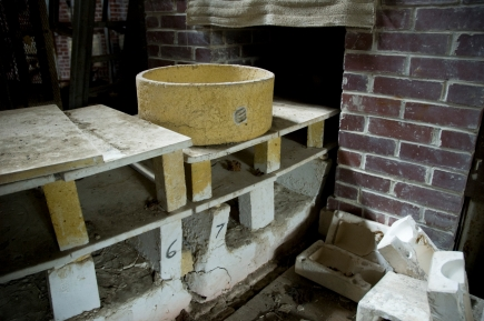 Arkansas Democrat-Gazette photo by Cary Jenkins The entrance to the tunnel of the carousel kiln at Camark PotteryCamark Pottery Factory, Camden Arkansas