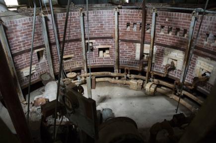 Arkansas Democrat-Gazette photo by Cary Jenkins The view from the top of the carousel kiln at Camark potteryCamark Pottery Factory, Camden Arkansas