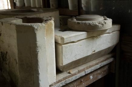 Arkansas Democrat-Gazette photo by Cary Jenkins Plaster molds left at Camark PotteryCamark Pottery Factory, Camden Arkansas