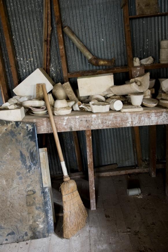 Arkansas Democrat-Gazette photo by Cary Jenkins Molds and equipment left in the finishing room at Camark Pottery.Camark Pottery Factory, Camden Arkansas