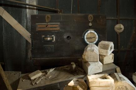 Arkansas Democrat-Gazette photo by Cary Jenkins The control panel to a carousel kilnCamark Pottery Factory, Camden Arkansas